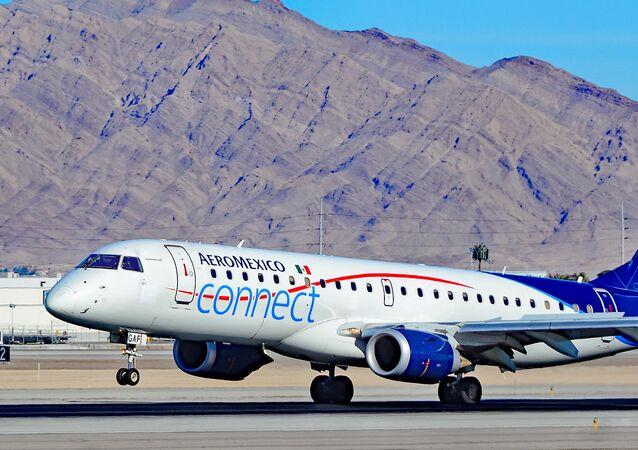 Un Embraer de la compagnie aérienne Aeroméxico (image d'illustration)