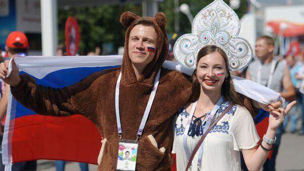 Supporteurs russes au Mondial 2018 - Sputnik France