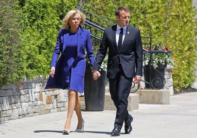 le couple Macron