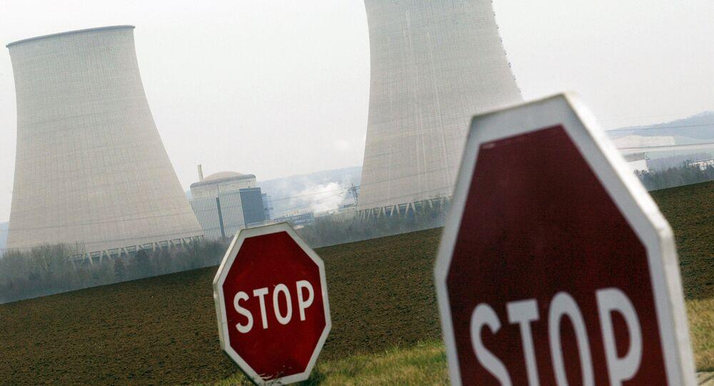A la centrale nucléaire de Nogent-sur-Seine dans l'Aube