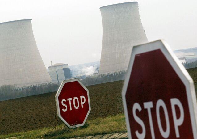 à la centrale nucléaire de Nogent-sur-Seine dans l'Aube