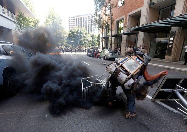 manifestation à Portland, dans l'Oregon