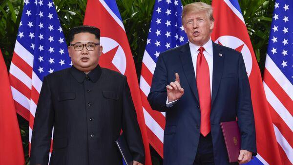 Donald Trump et Kim Jong Un - Sputnik France
