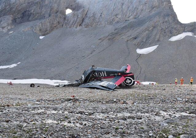 Crash d'un Junkers de collection en Suisse