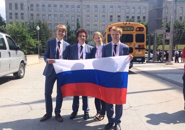 L'équipe russe qui a remporté le concours mondial de géographie