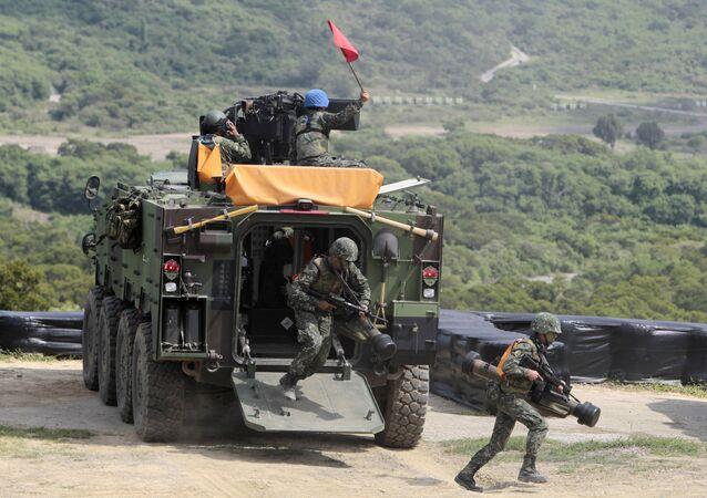 Des soldats taiwanais
