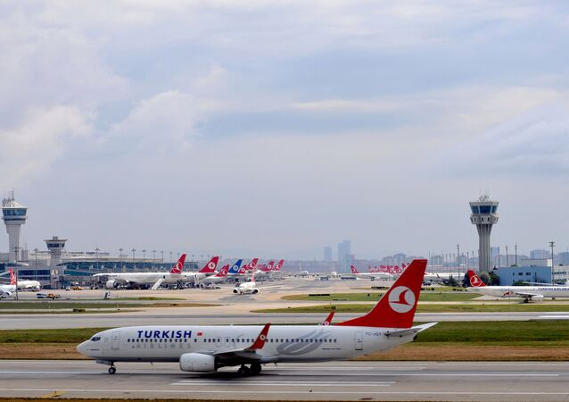 Un avion de Turkish Airlines à l'aéroport d'Istanbul