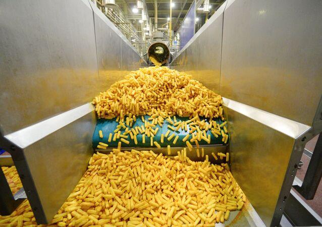 Production de frites