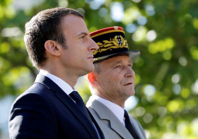 Le Président Emmanuel Macron et le Général Pierre de Villiers