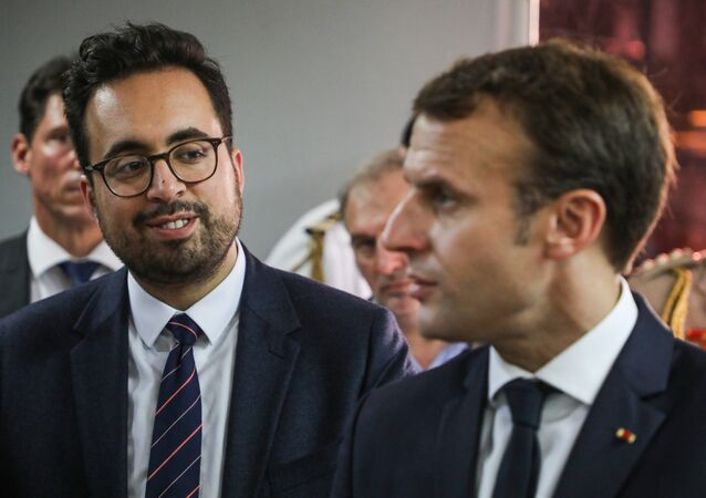 Emmanuel Macron et Mounir Mahjoubi