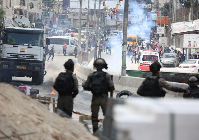 Les Palestiniens protestent contre le transfert de l'ambassade américaine à Jérusalem