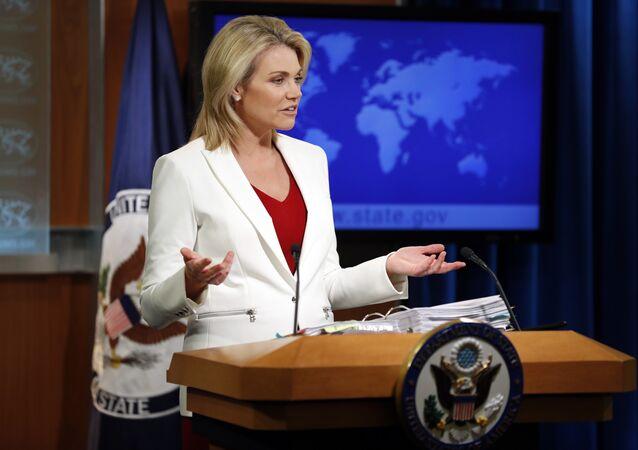 US-Außenamtssprecherin Heather Nauert