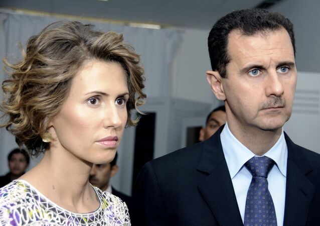 Bachar el-Assad et sa femme Asma