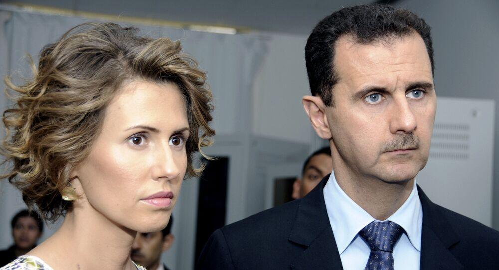 Bachar el-Assad avec son épouse Asma