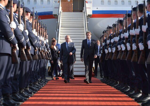 Poutine en visite en Allemagne