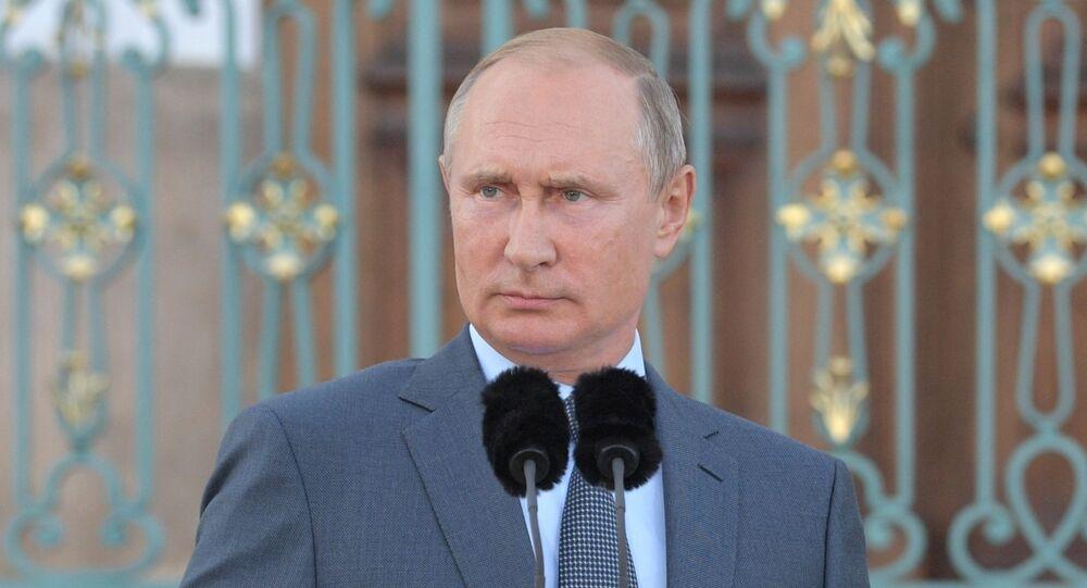 Vladimir Poutine en visite en Allemagne