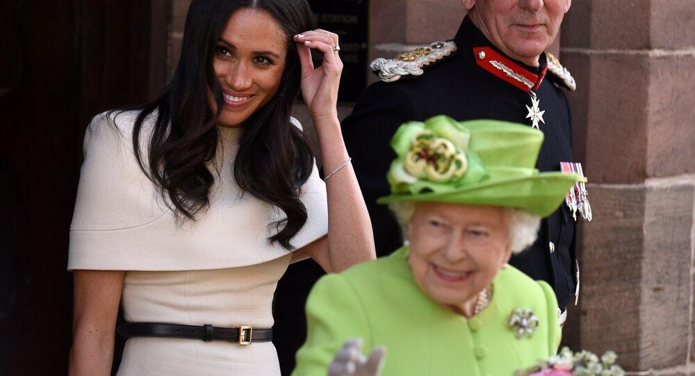 Elizabeth II et Meghan Markle