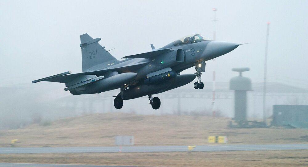 chasseur suédois JAS-39 Gripen