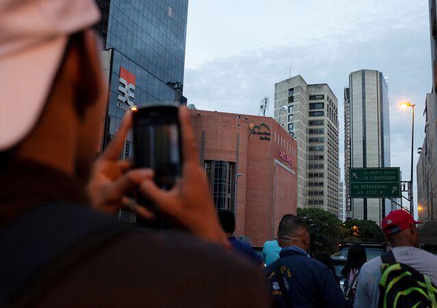 El rascacielos Torre de David en Caracas tras el sismo