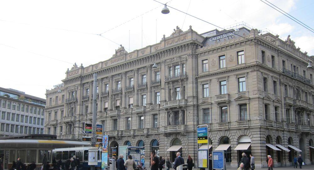 La banque Crédit Suisse à Zurich