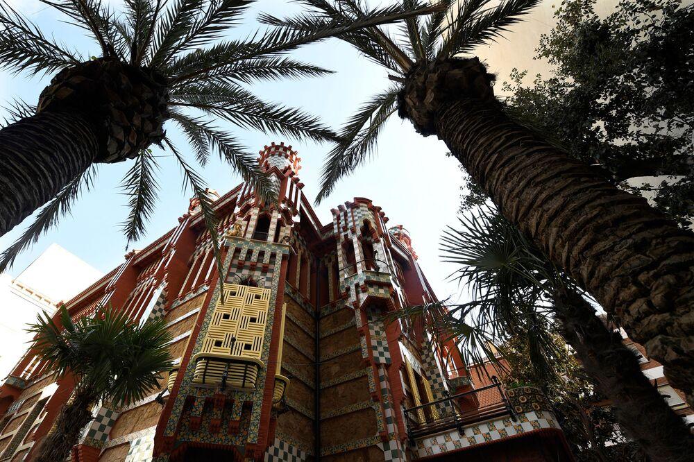 La Casa Vicens construite à Barcelone par l'architecte Antoni Gaudi.