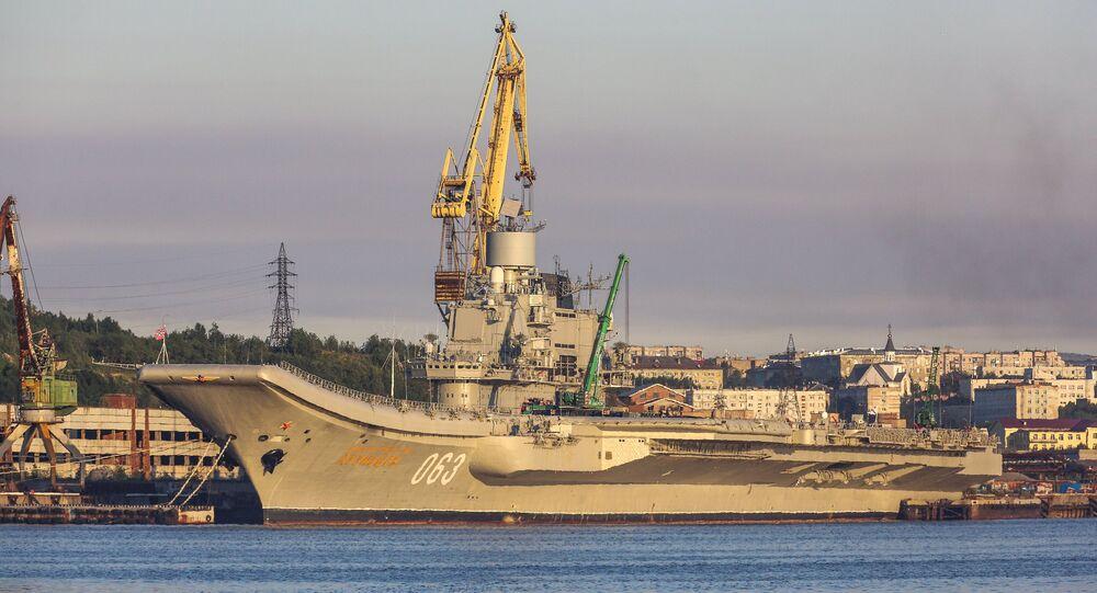 Le croiseur lourd russe Admiral Kouznetsov