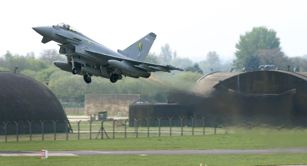 Un Eurofighter Typhoon britannique