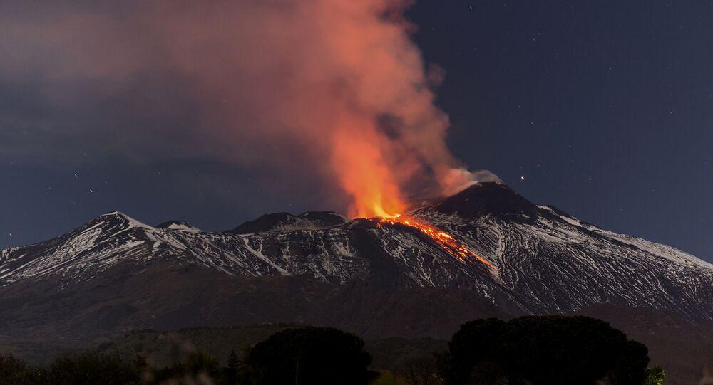 Eruption de l'Etna en 2017