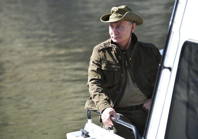 Vladimir Poutine dans la république de Touva, 2018