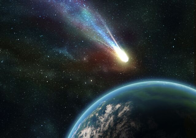 La Terre et un astéroïde