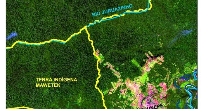 Carte des terres peuplées par des indigènes