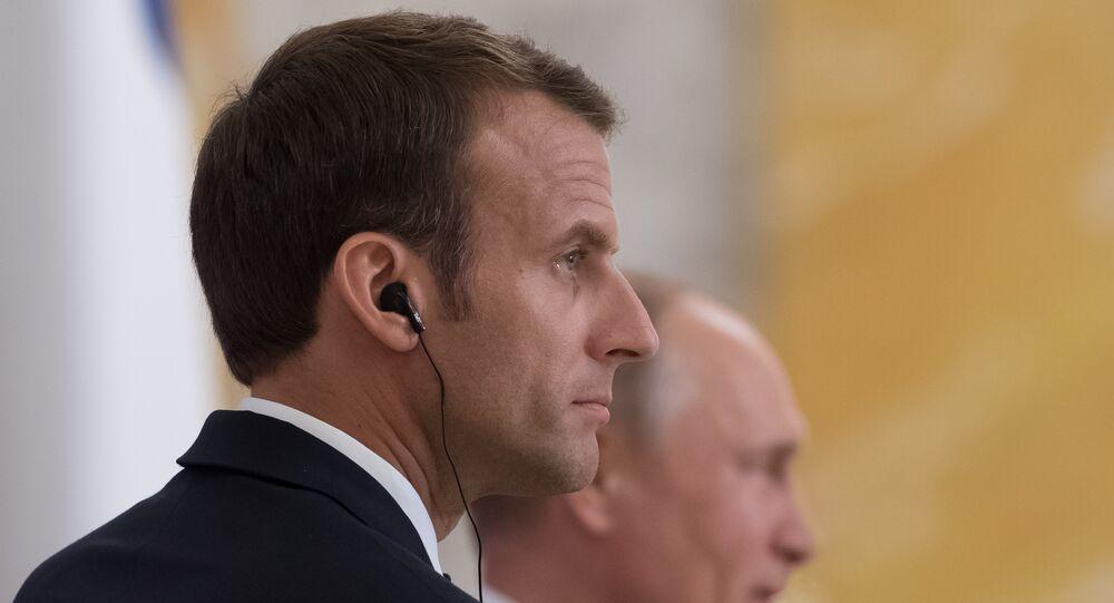 Emmanuel Macron et Vladimir Poutin