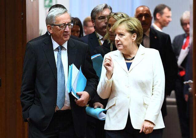 Angela Merkel et Jean-Claude Juncker