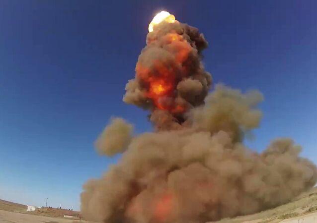 En photo, les essais du nouveau système antimissile russe