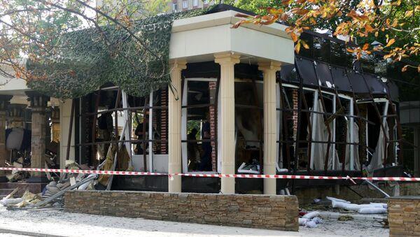 Le site du meurtre du chef de la République populaire autoproclamée de Donetsk (RPD), Alexandre Zakhartchenko - Sputnik France