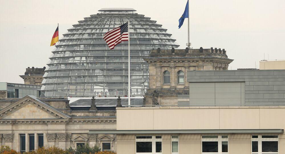 L'ambassade des États-Unis à Berlin et le siège du parlement allemand (archive photo)
