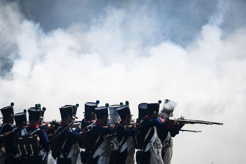 La reconstitution de la bataille de la Moskova