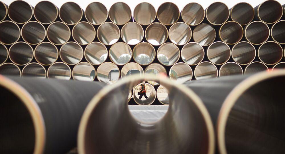 Tubes pour le gazoduc Nord Stream 2 (photo d'archives)