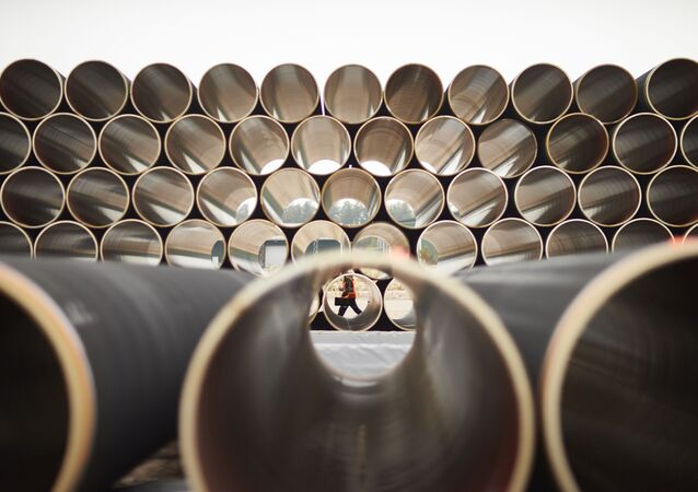 Tubes pour le gazoduc Nord Stream 2 (photo d'archives)