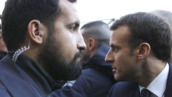 Alexandre Benalla et Emmanuel Macron - Sputnik France