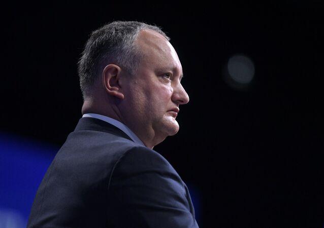 Le Président moldave Igor Dodon. Photo d'archive