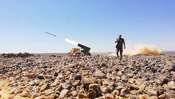 راجمات الجيش السوري تدك آخر جيوب داعش الإرهابي في تلول الصفا ببادية السويداء - Sputnik France