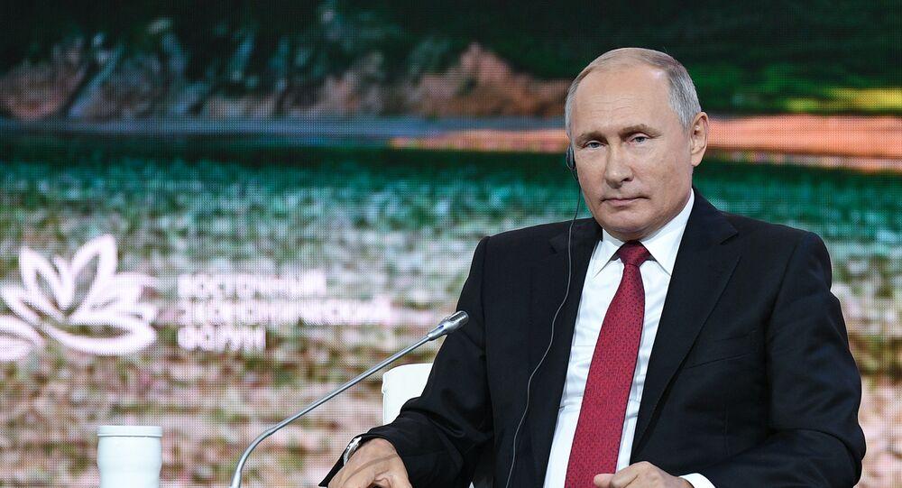 Vladimir Poutine lors du Forum économique de Vladivostok