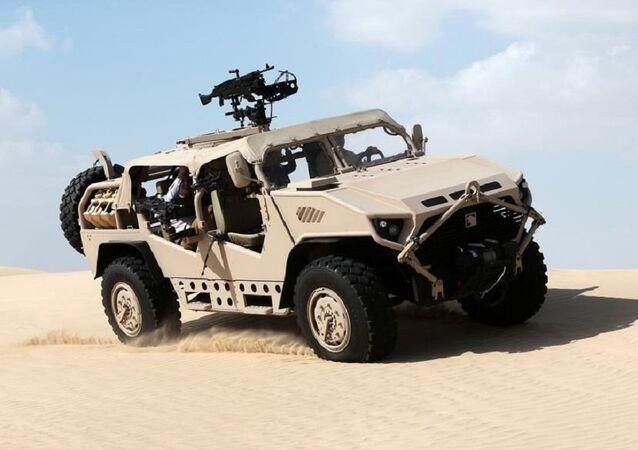 Un véhicule blindé NIMR