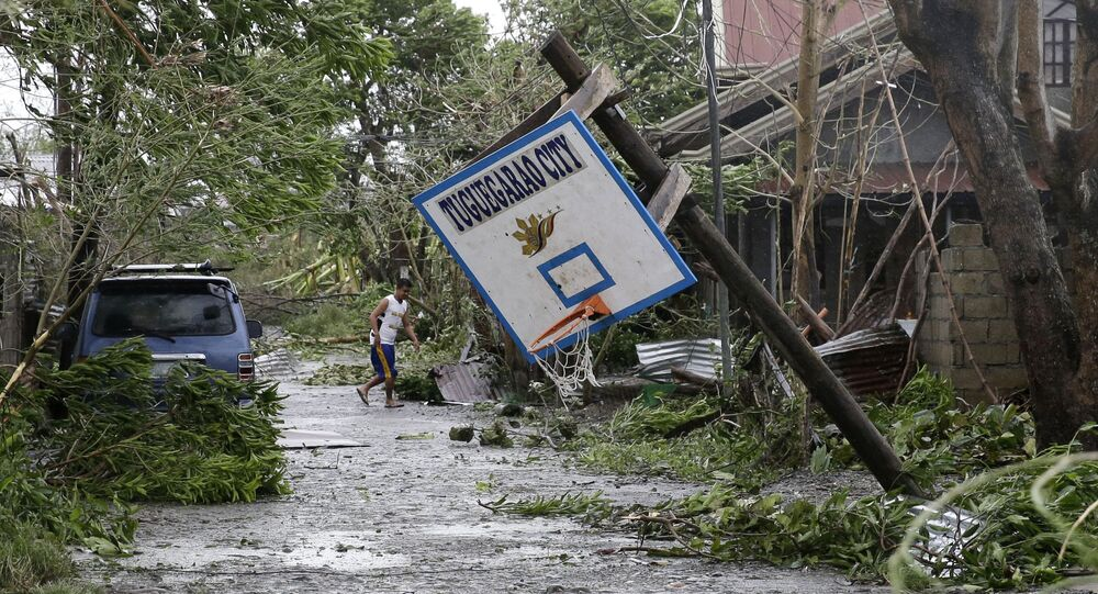 Le typhon Mangkhut