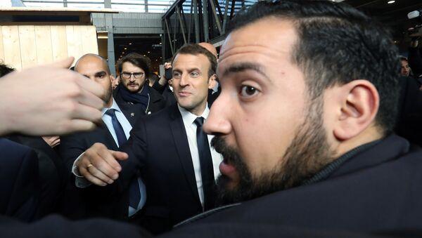 Emmanuel Macron et Alexandre Benalla - Sputnik France