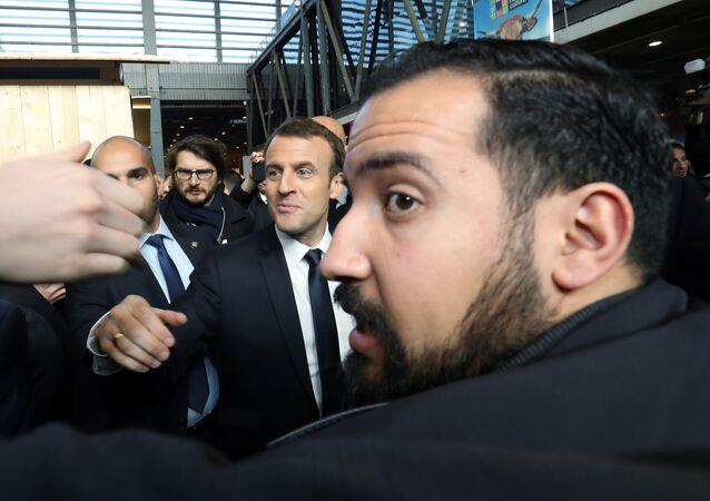 Emmanuel Macron et Alexandre Benalla, archives