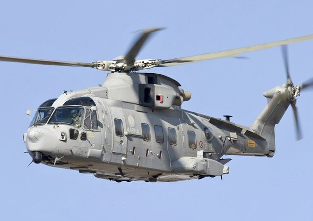 Un hélicoptère de l'entreprise italienne Leonardo Finmeccanica