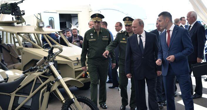 Vladimir Poutine au parc Patriot