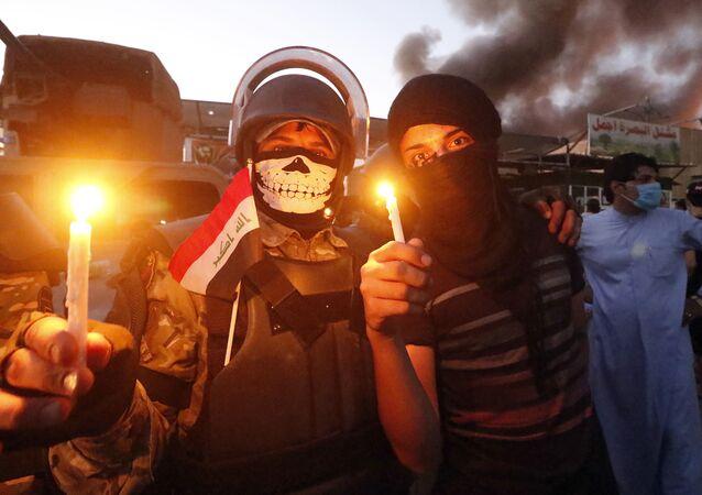 manifestants à Bassora